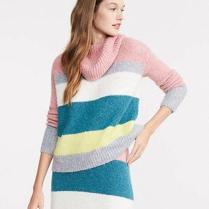 Lou & Grey Striped Plushfuzz Turtleneck Sweater